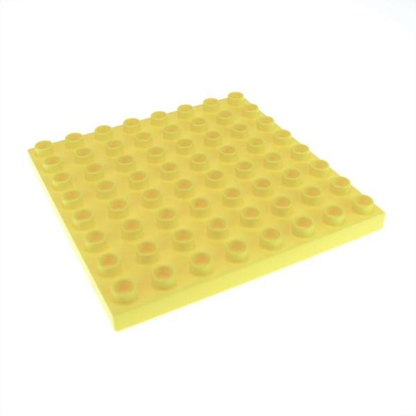1x Lego Duplo Bau Basic Platte 8x8 hell gelb Grundplatte Sand Burg 4278912 51262