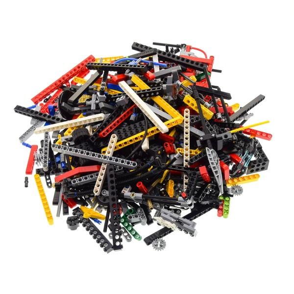1 KG LEGO TECHNIC Technik ca. 900 Teile zufällig bunt gemischt z.B. Pins Lochstangen Steine Liftarme Räder Kiloware