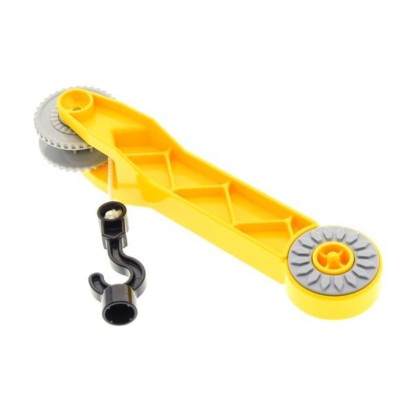 1 x Lego Duplo Kran Ausleger gelb mit Seilwinde neu-hell grau Kranarm Auto 10508 45008 6039794 14013c01 6033953 13341c01