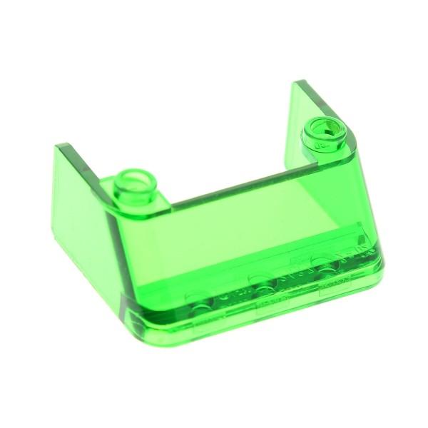 1 x Lego System Windschutzscheibe transparent grün 3 x 4 x 1 1/3 Auto Ufo Mars Space Star Wars Kanzel Cockpit Zug Kuppel Fenster 2437