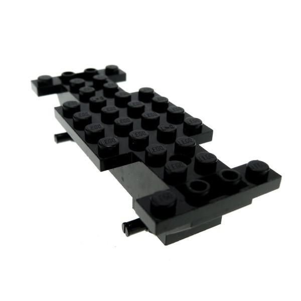 1 x Lego System Fahrgestell schwarz 4x10x1 LKW Unterbau Bau Platte Auto Chassis 30235