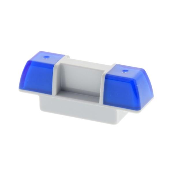 1x Lego Duplo Auto Sirene Blau Licht dunkel blau neu-hell grau Polizei 2318c01