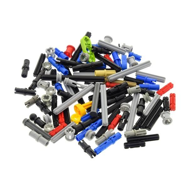100 Lego Technic Klein Teile ca. 30 g z.B. Pin Stopper Stecker Kreuz Stange Achse Kreuzloch Verbinder kg Technik Steine zufällig gemischt