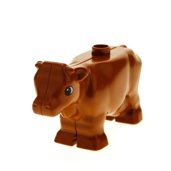 1 x Lego Duplo Tier Kuh braun dunkel orange Bulle Rind Bauernhof Zoo Zirkus 4271479 6673
