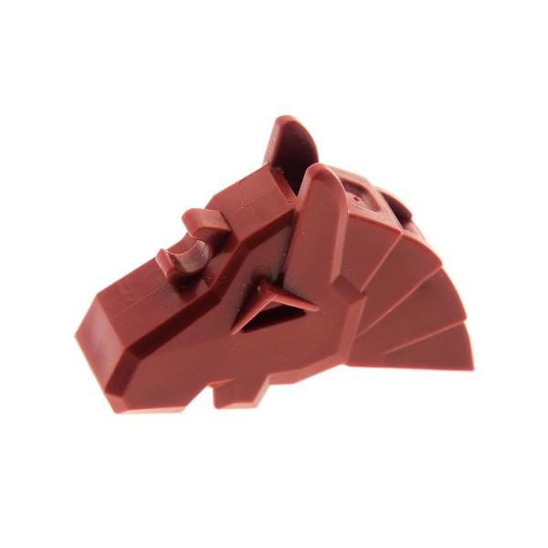 1 x Lego System Tier Pferde Kopfschmuck dunkel rot Kampf Helm Rüstung Pferd Zubehör König Castle Ritter für Set 8874 8779 4223101 48492