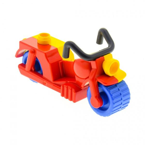 1 x Lego Duplo Motorrad rot gelb blau für Zirkus Clown dupmc2