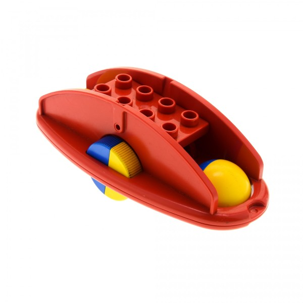 1 x Lego Duplo Primo Rassel rot Klapper Roller Wippe Baby Räder blau gelb Baustein x1316c02