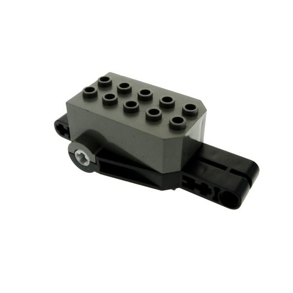 1 x Lego Technik Rückzieh Aufzieh Motor alt-dunkel grau schwarz 9 x 4 x 2 1/3 Motorrad Auto Fahrzeug pull back 32283c02