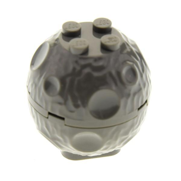 1 x Lego System Fels alt-dunkel grau Brocken Felsen mit Krater Stein Castle Star Wars 30342c01
