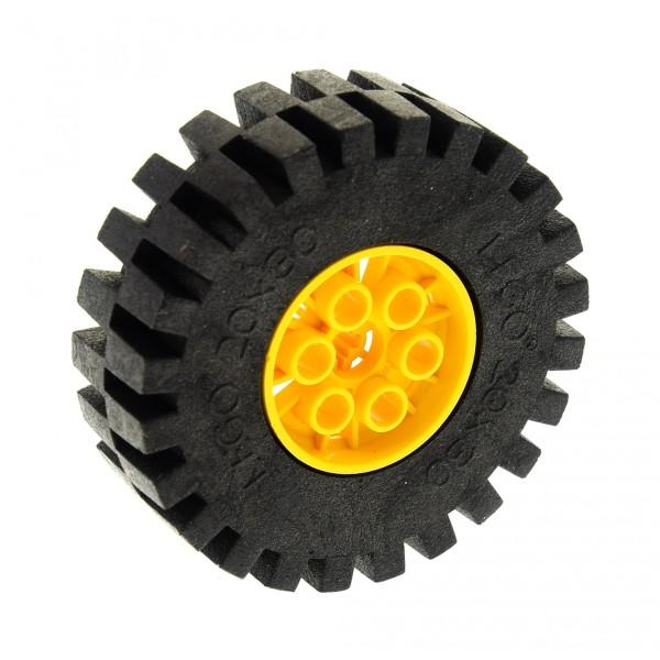 1 x Lego Technic Rad schwarz gelb 20x30 Räder Felge Technik Wheel and Tire Set 8862 8853 8854 (4266 / 4267) 4266c02