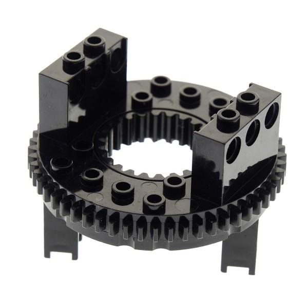 1 x Lego Technic Drehkranz schwarz Turntable Technik rund Rad Zahnrad Typ 1 für Set 8446 8480 2855 2856c01