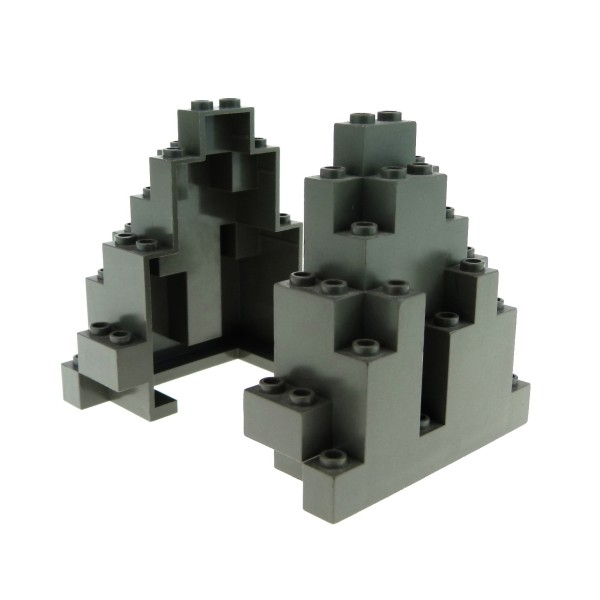 2 x Lego System Fels alt-dunkel grau Felsen Berg Panele Stein Rock Mauer Wand Burg Castle Harry Potter 6083