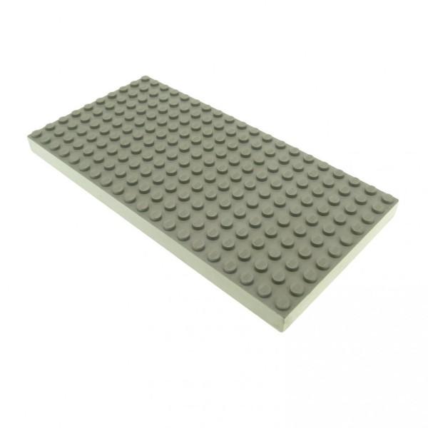 1 x Lego System Bau Platte B-Ware stark beschädigt alt-hell grau 20 x 10 Noppen 10x20 mit Bodenröhrchen 700eD