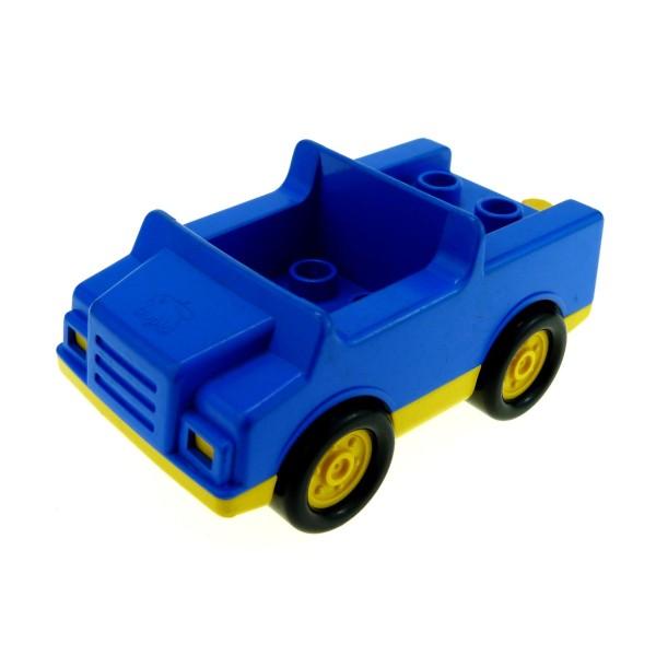 1x Lego Duplo Fahrzeug Auto blau gelb PKW Abschleppwagen Set 2617 2218c01