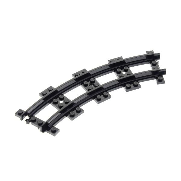 1 x Lego System Eisenbahn Schiene schwarz schmal Kurve Gleis Zug für Set 7065 6857 4621929 85976