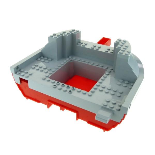 1 x Lego System Schiff Boot Rumpf rot neu-hell grau 19 x 22 Bug Vorderteil Wikinger Piraten Set 7075 47981 47980c01