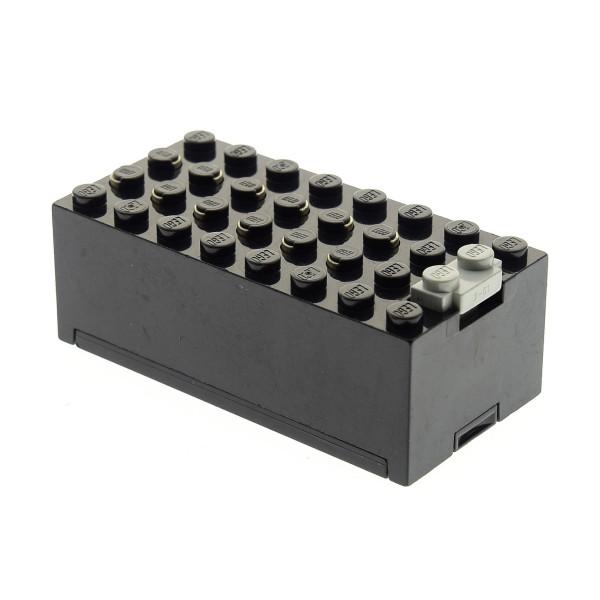1 x Lego System Electric Batteriekasten schwarz Batterie Block Technic 9 V geprüft 73955 4761 4760c01