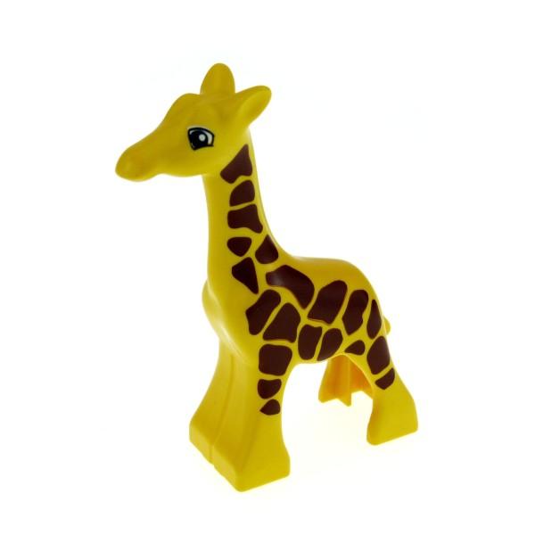 1 x Lego Duplo Tier Baby Giraffe klein gelb mit vielen dichten Punkten Zoo Safari Set 4960 9214 4282957 2278pb02