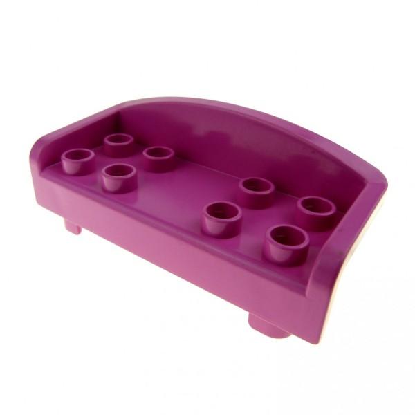 1 x Lego Duplo Möbel Sofa rosa dunkel pink Couch mit runder Rückenlehne Wohnzimmer Schlafzimmer Puppenhaus 6476