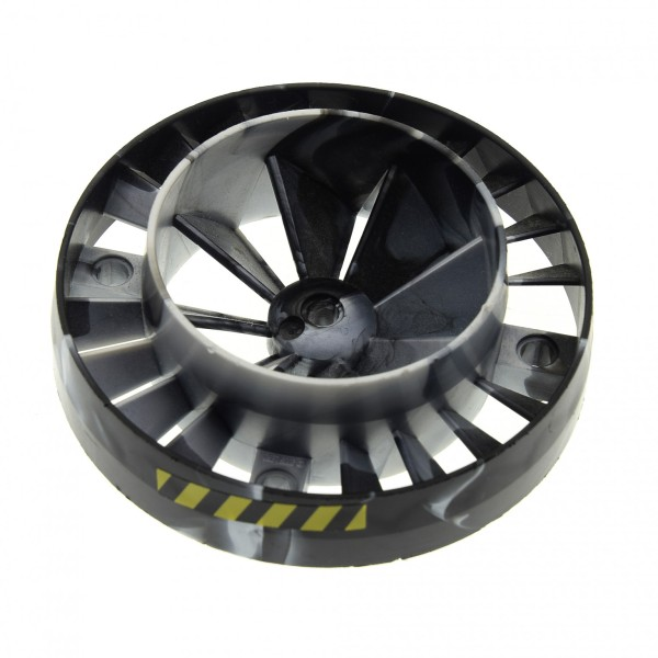 1 x Lego Technic Turbine perl grau schwarz mit Streifen Triebwerk Propeller Lüfter Rad Motor Exo force Düse 7703 53983pb03