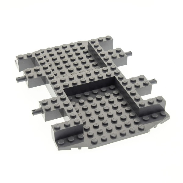 1 x Lego Fahrgestell neu-dunkel grau LKW 12 x 18 Chassis Vehicle Car Base 30295