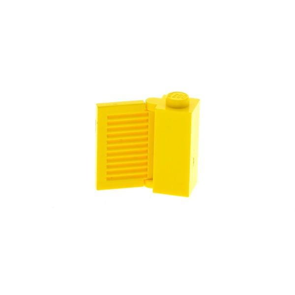 1 x Lego System Zarge gelb 1x1x2 Gatter Türangel Tor Fenster 1x2x2 gelb (10 Lamellen) Tür Halterung mit Fensterladen Set 1074 362 3581 3582