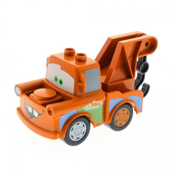 1 x Lego Duplo Fahrzeug Disney Pixar Cars Auto Figur Hook dunkel orange braun Abschleppwagen und Haken Mater 4580565 2222c01 88760 88762c01pb04 88764pb01