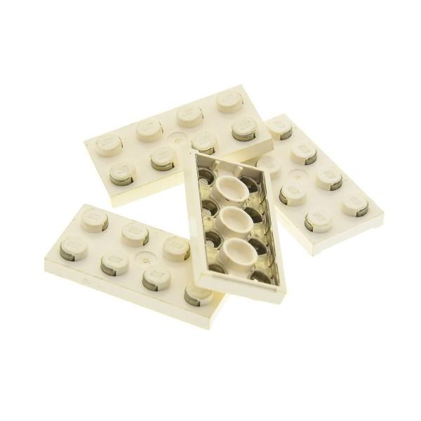 4 x Lego System Electric Leiterplatte Stein creme weiss 2 x 4 Strom Platte mit Kontakten für Light & Sound Space Police I 4757