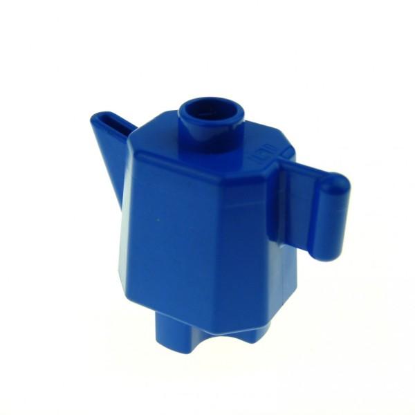 1 x Lego Duplo Geschirr Kanne blau hoch Kaffee Tee Milch Puppenhaus Wohnzimmer Küche Zubehör Möbel 4112069 31041