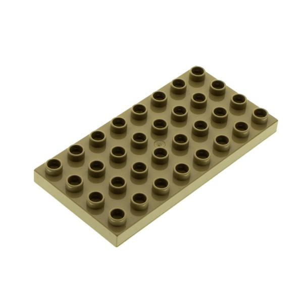 1x Lego Duplo Bau Platte dunkel beige 4x8 4960 3289 5544 4255053 10199 4672