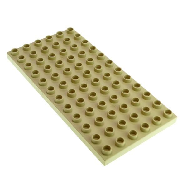 1 x Lego Duplo Bau Basic Platte beige 6 x 12 tan 12 x 6 Noppen 6x12 für Set 6157 5609 5634 4686 Zoo Eisenbahn 4217963 4196 18921