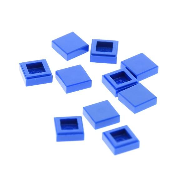 10 x Lego System Fliese 1x1 blau mit Rille Platte Set 9657 21102 9314 5893 4206330 30039 35403 3070
