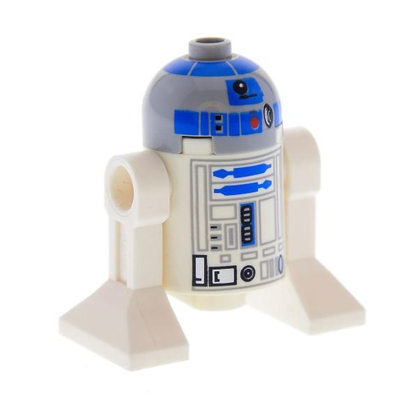 1 x Lego System Figur Star Wars Droid Droide R2-D2 neu-hell grau weiss Set Anakin's Y - Wing Starfighter Astromechdroide R2 D2 8037 8038 10188 10198 sw217