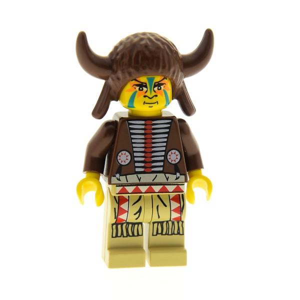 1 x Lego System Figur Indianer Medizin Mann Torso dunkel braun beige Schamane Western Wild West 6748 6718 6766 6763 30113 973px107c01 ww019