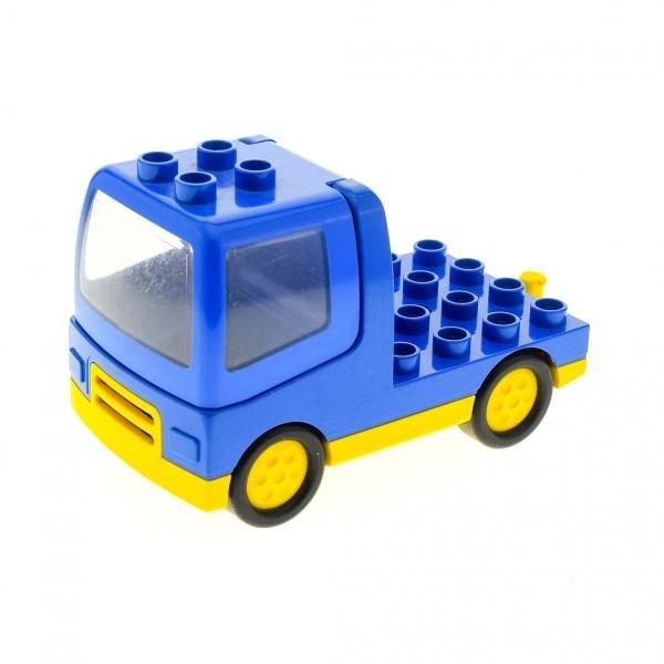 1 x Lego Duplo LKW blau gelb mit Kabine Laster Auto Lastwagen Zugmaschine Baufahrzeug duptruck01c01 31077