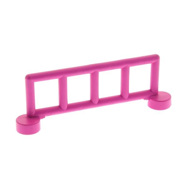 1 x Lego Duplo Zaun rosa dunkel pink mit 5 Pfosten Zäune Gatter Gitter Geländer Absperrung Fence für Bauernhof Eisenbahn Set 2792 9168 2214