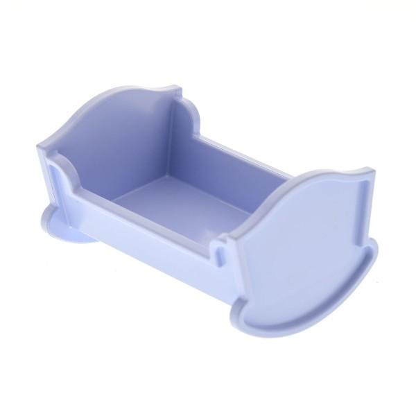 1 x Lego Duplo Möbel Wiege Bett hell violett Puppenhaus Schlafzimmer Puppenbett Belville 4908