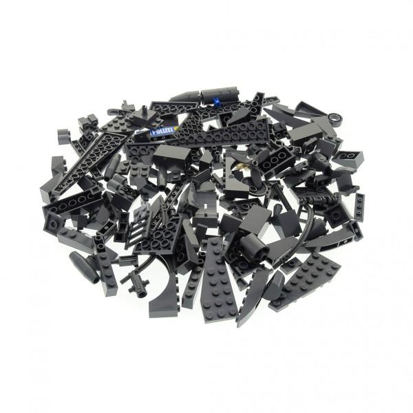 100 Lego Sonderteile Bau Steine Teile neu-dunkel grau Form und Größe bunt gemischt z.B. Fenster Dach Bogen Autoteile