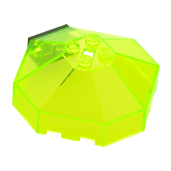 LEGOS Windscreen 6x6 Octagonal Canopy with Axle Hole Space UFO TRANS-NEON GREEN