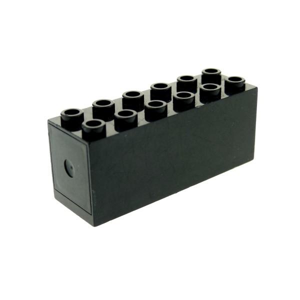 1 x Lego System Gewicht Stein B-Ware abgenutzt schwarz ca. 50g Eisenbahn Zug 2x6x2 Schiff boat weight 6094053 73090b