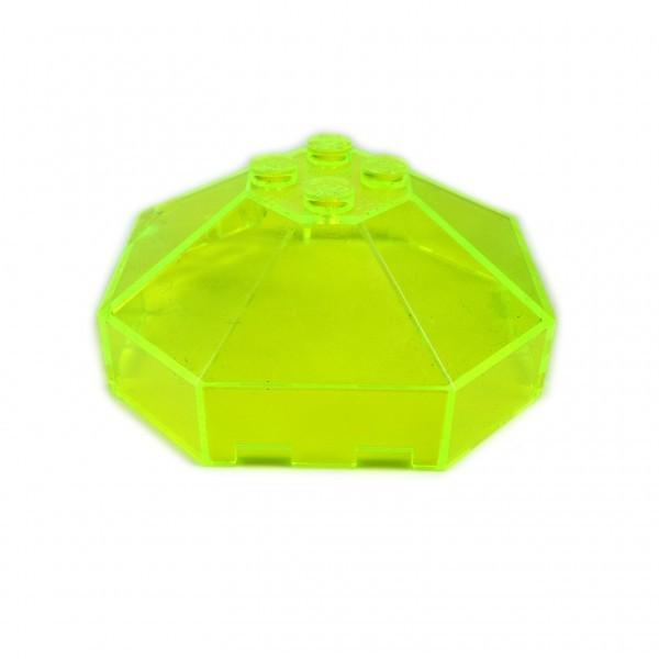 2 x Lego System Cockpit transparent neon grün gelb 6 x 6 Ufo Mars Space Blacktron Kanzel Kuppel Fenster ohne Achs Loch 2418a