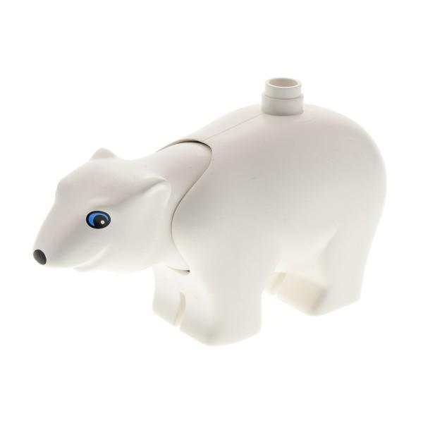 1 x Lego Duplo Tier Eisbär Bär groß weiss runde Augen Zoo Zirkus Arktis Eis Polar Tierpark 4166497 polarc01pb01
