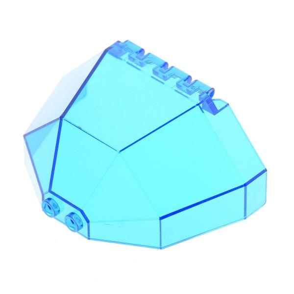 1 x Lego System Cockpit transparent dunkel blau 8x3 1/2 x 4 1/6 windscreen Ufo Mars Space Star Wars Kanzel halb Kuppel Achteck Fenster 6084