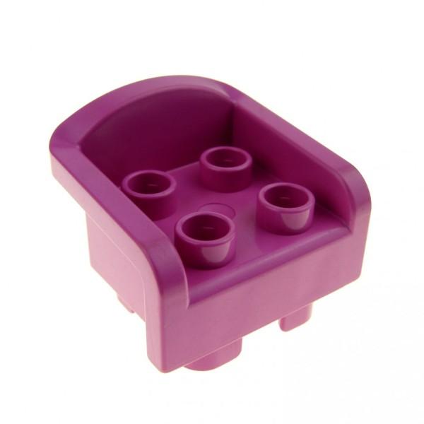 1 x Lego Duplo Möbel Stuhl Sitz Sessel pink rosa mit Armlehne Wohnzimmer Schlafzimmer Puppenhaus Küche Furniture Chair 6477