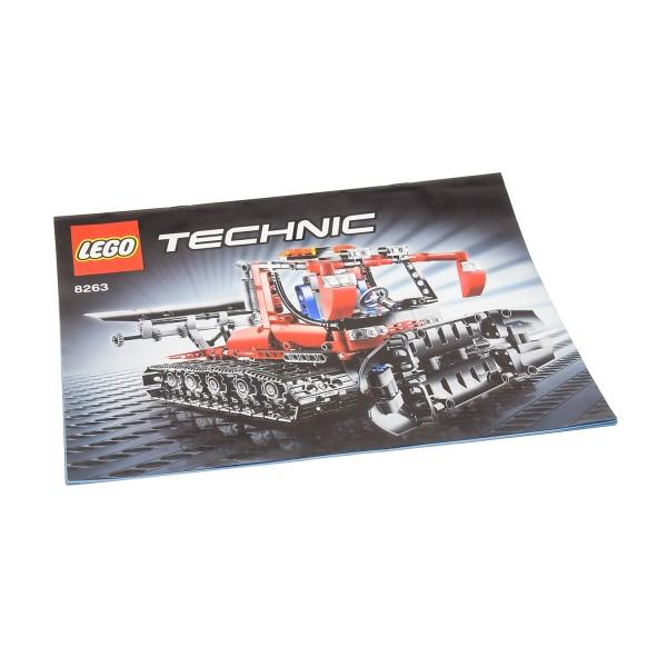 1 x Lego Technic Bauanleitung A4 Heft für Set Traffic Snow Groomer Pistenraupe mit Schiebeschild 8263