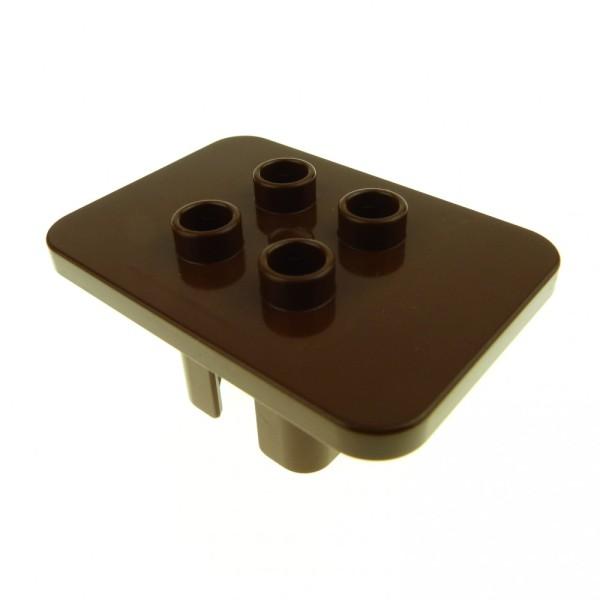 1 x Lego Duplo Möbel Tisch braun eckig Puppenhaus Küche Wohnzimmer Ritter Burg 4164451 6479