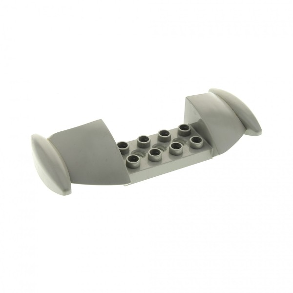 1 x Lego Duplo Toolo Stein Flügel Tragfläche Spoiler alt-hell grau Wings für Set 9200 2909 2914 31238