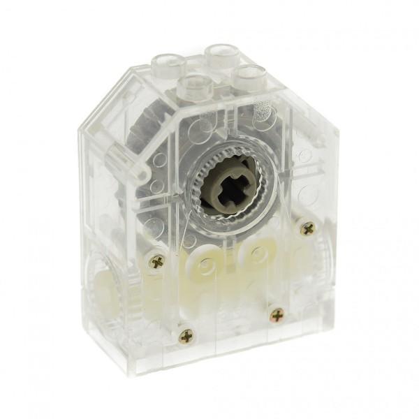 1 x Lego Technic Getriebe Box 4x2x4 transparent weiss Zahnrad Schnecke Umsetzer Gearbox Worm to 24-tooth für Set 4094 46220