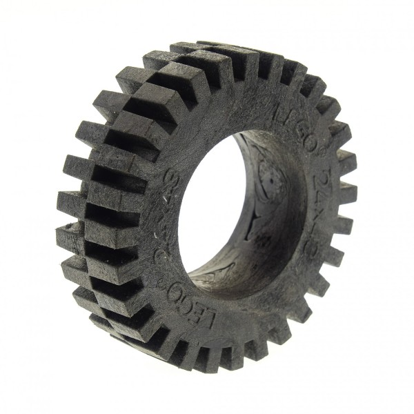 1 x Lego Technic Auto Fahrzeug Rad Reifen schwarz 24x43 solo Racing Technik Set 8862 3740