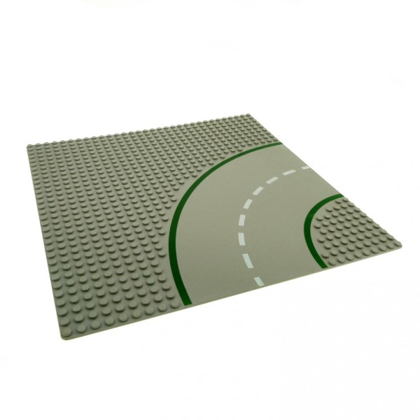 1 x Lego System Bau Platte Kurve 9N alt-hell grau 32 x 32 Noppen 32x32 viertel Kreis Straße 609p01